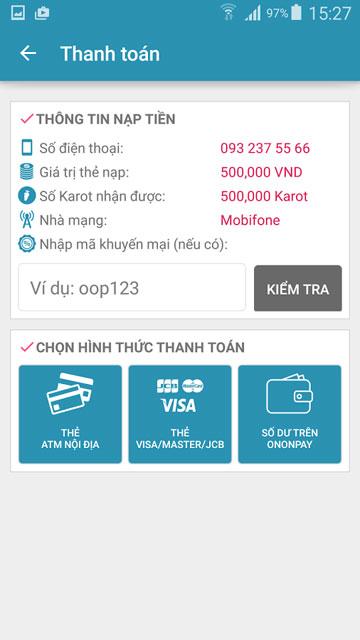 Tải OnOnPay - Ứng Dụng Nạp Tiền Điện Thoại Trên Android, iPhone