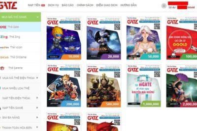 3 cách mua thẻ Gate online bằng sms, trên website và các ứng dụng
