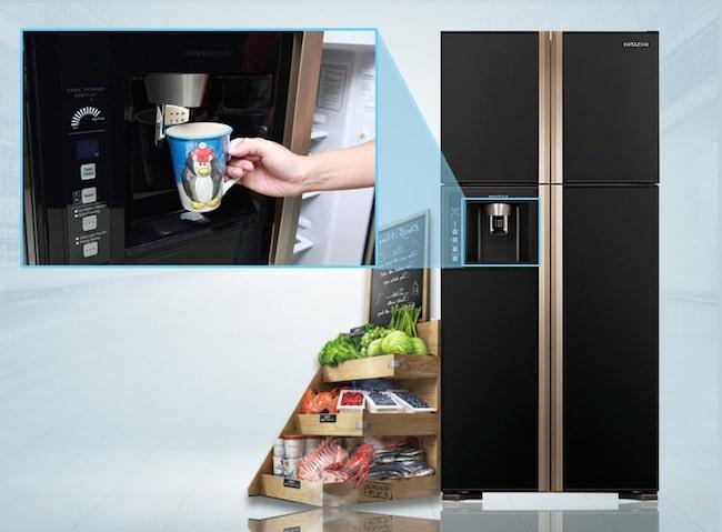 Hitachi R-W660FPGV3X GBK giúp gian nhà bạn thêm thanh lịch và thời thượng