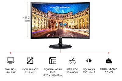 Đánh giá màn hình cong Samsung 24'' LC24F390 có tốt không qua 4 tiêu chí