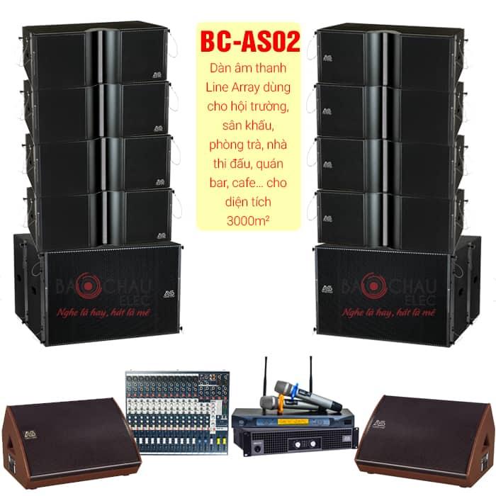 Dàn âm thanh BC-AS02 được đánh giá phù hợp với không gian lớn và cho âm thanh tuyệt đỉnh