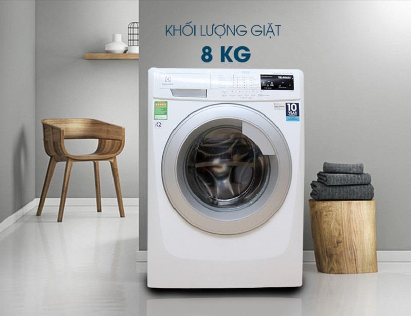Máy giặt lồng ngang Electrolux 9kg EWF12844 Inverter màu sắc trang nhã, phù hợp với các không gian sống khác nhau