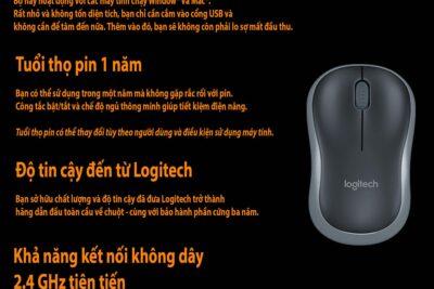Đánh giá chuột không dây Logitech loại nào tốt nhất: M221 hay B175