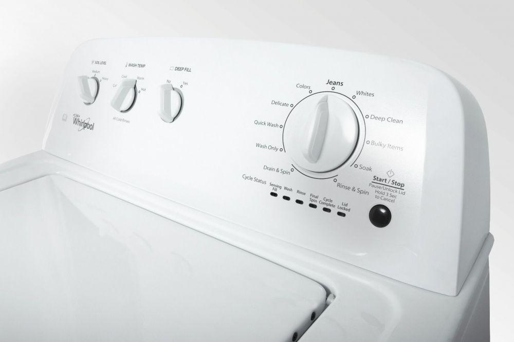 Máy sấy Whirlpool 3LWED4705FW có bảng điều khiển chi tiết và dễ sử dụng