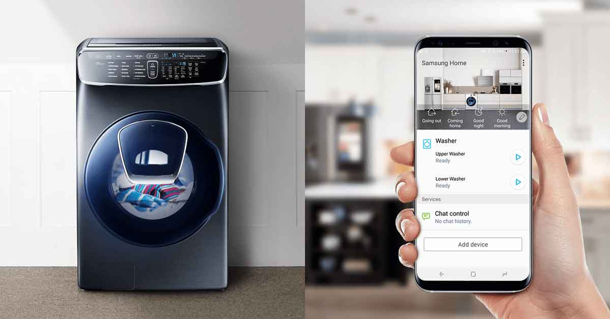 Bạn có thể điều khiển máy giặt thông qua điện thoại thông minh vô cùng tiện lợi