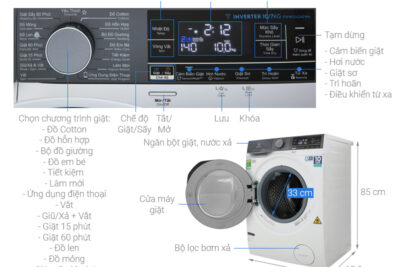 14 máy giặt sấy kết hợp tốt nhất nhiều chế độ đa dạng giá từ 17tr