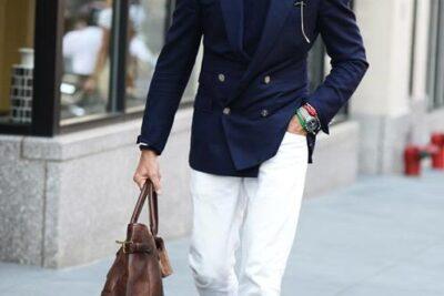 Cách phối đồ với quần jeans trắng cho phái mạnh