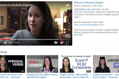 Top 10 kênh Youtube học tiếng Anh hay nhất