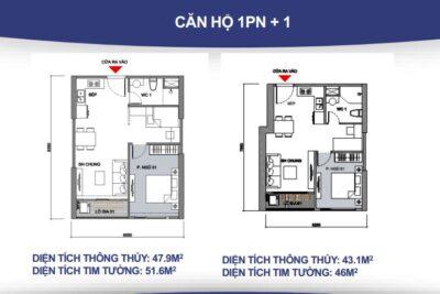 15 mẫu thiết kế nội thất căn hộ Vincity 1 phòng ngủ sang đẹp mỹ mãn