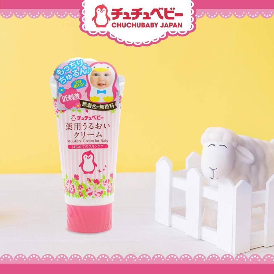 Kết cấu của kem dưỡng ẩm cho bé ChuChu Baby mỏng nhẹ, thấm nhanh không nhờn rít