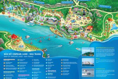 Bản đồ Vinpearl Nha Trang có mấy khu, nghỉ dưỡng ở đâu thoải mái nhất