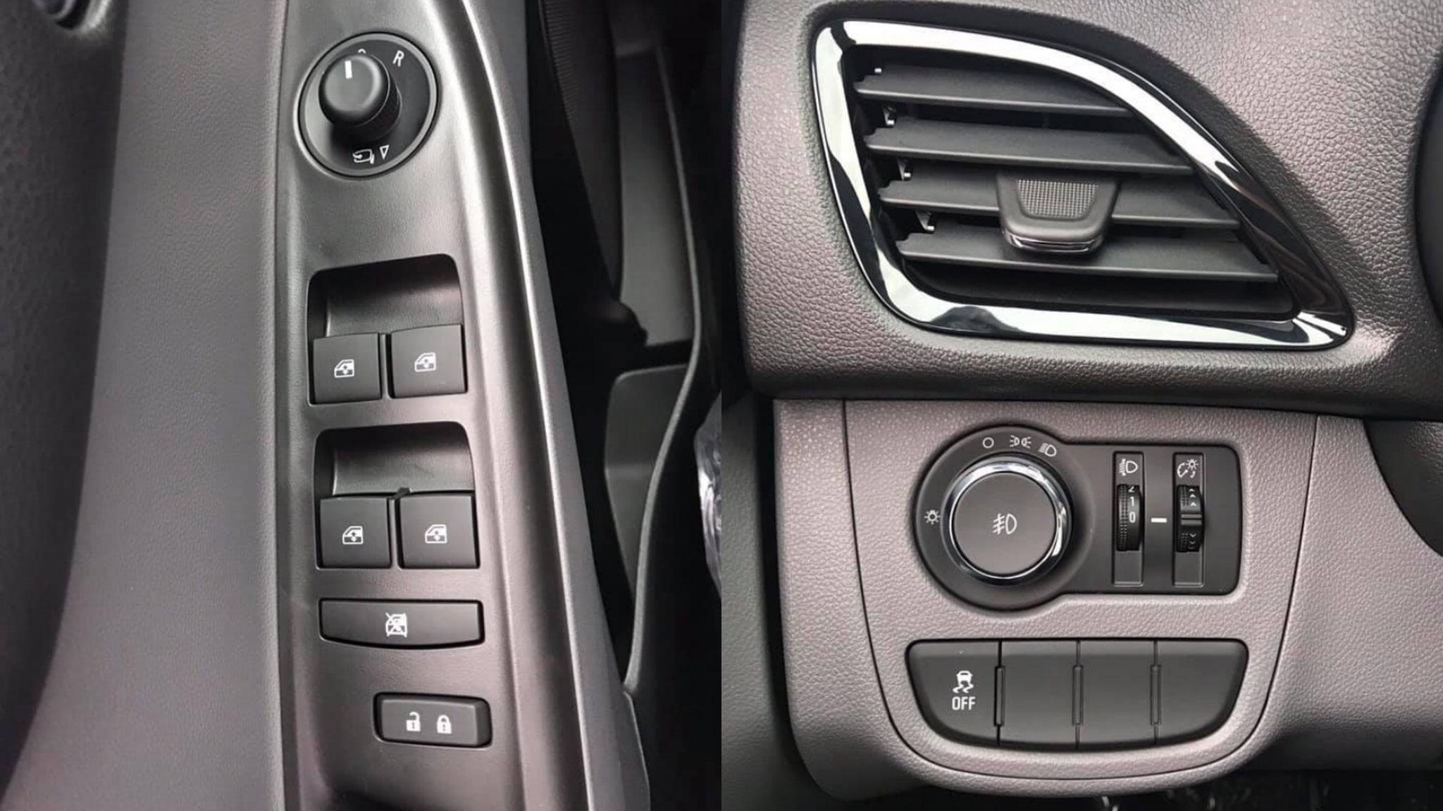 Táp-pi cửa và công tắc chỉnh đèn của Fadil, phía bên dưới tắt cân bằng điện tử (ESP)