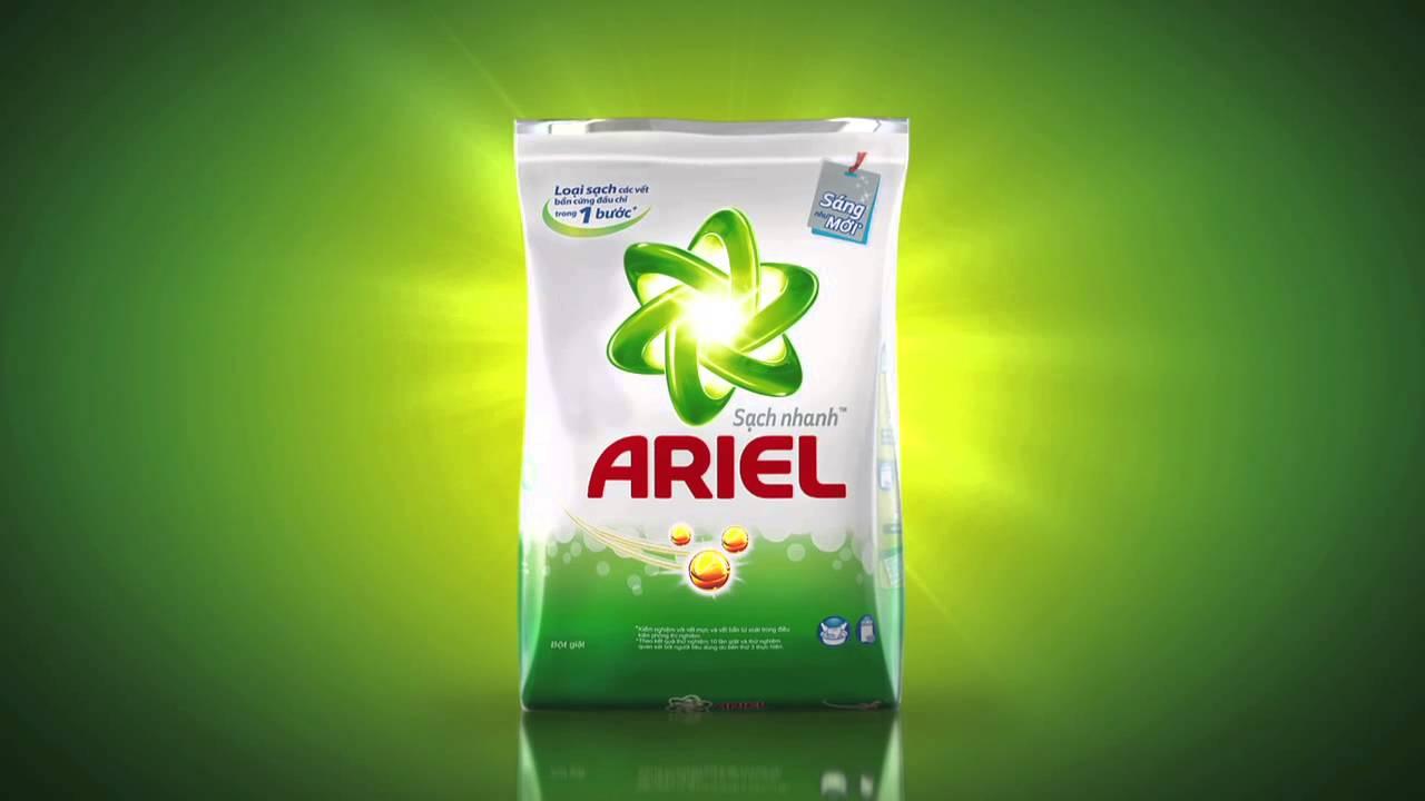 Bột giặt Ariel đánh bay mọi vết bẩn cứng đầu, trả lại vẻ đẹp như mới cho quần áo