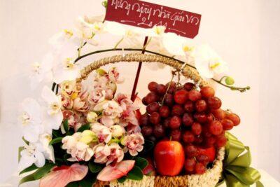 9 giỏ quà trái cây ngày 20/11 từ đơn giản tới sang trọng tặng thầy cô