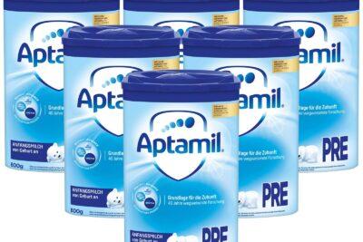 Sữa Aptamil Pre Đức có tốt không: Có mấy loại, Hệ dinh dưỡng, Giá bán