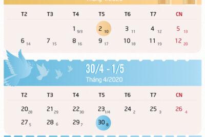 Năm 2020 được nghỉ bao nhiêu ngày lễ tết?
